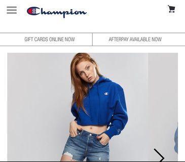 Champion reverse weave crop hoodie