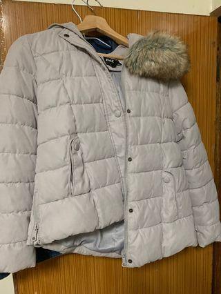 保暖帽子可拆棉外套