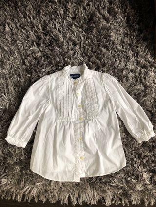 Ralph Lauren Girl Shirt - Size 18 months
