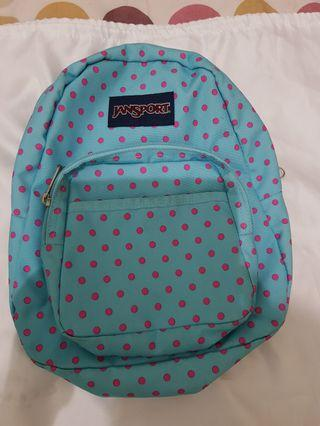 Jansport Mini blue topaz polkadot pink ori