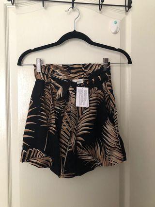 H&M tropical flowy shorts