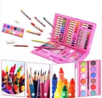 86 pcs Kids Drawing Set with colour pencil, crayons etc in one case