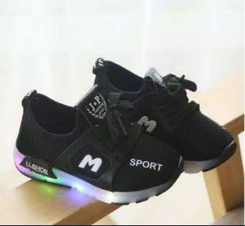 Sepatu anak sport led