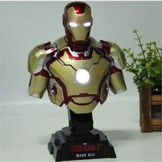 Marvel Avengers Iron Man Figure With Light Bust Collection Model Toy Mark II Htb28 1/4th Scale Ironman