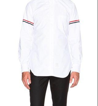 Thom Browne Classic Button Down with Grosgrain Armbands