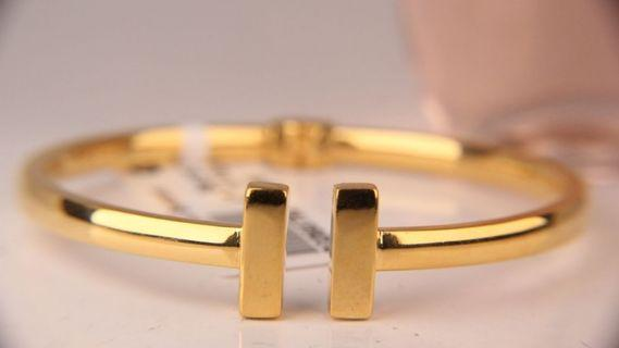 916 Gold Tiffany Bangle