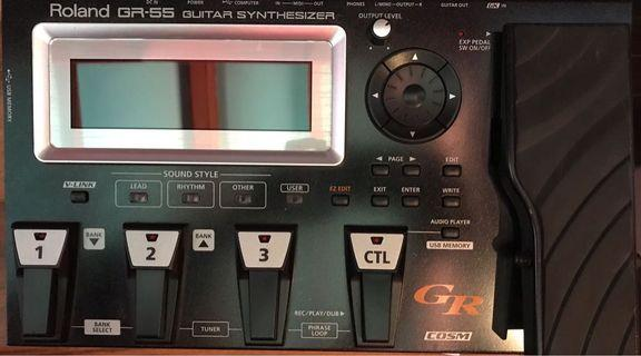 🚚 ROLAND GR55 guitar synth with pickup