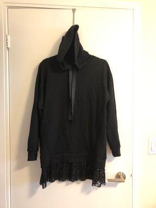 Bershka hoodie lace hem