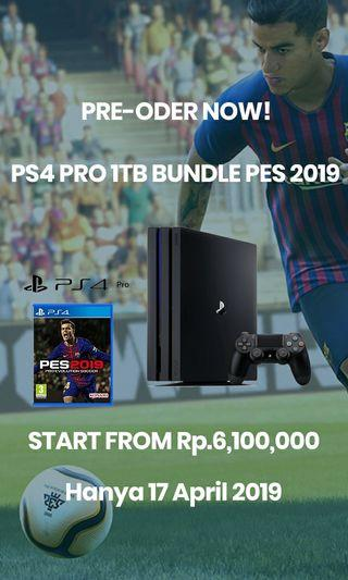 PS4 Pro 1TB Bundle PES2019 / FIFA19 Garansi 2 Tahun Dari Sony Original