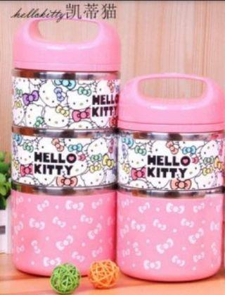Cute Hello Kitty Stainless Steel Insulation Lunch Box 1230ml