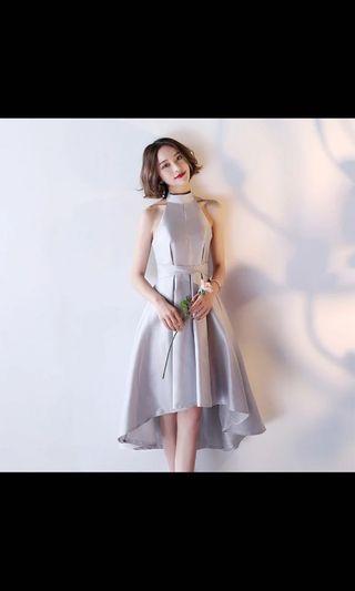 Bridemaids Silver grey dress