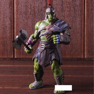 Marvel Thor Ragnarok Bruce Banner Hulk Figure Action PVC Collectible Model Toy Warrior Giadator Against Thor