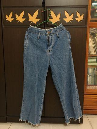 牛仔寬褲&外套