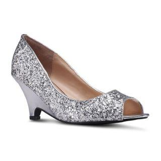 VELVET Metallic Open Teo Heels