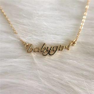 [PO] Babygirl Necklace