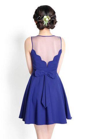 Clearance! Lilypirates Ever Thine Dress Indigo Blue M