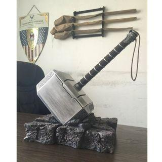 Newest 44cm 1:1 The Avengers Thor hammer mjolnir show base model adult costume party cosplay toy collection gift room decoration
