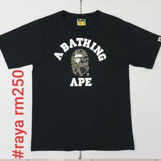 #RAYA250 BAPE A BATHING APE College Camo Ape Head Tee