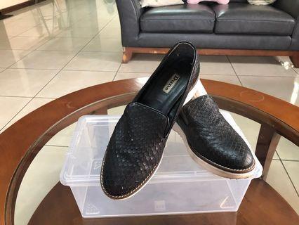 Dune black weave shoes size 38
