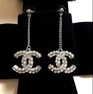 Chanel Dangling Crystal Earrings