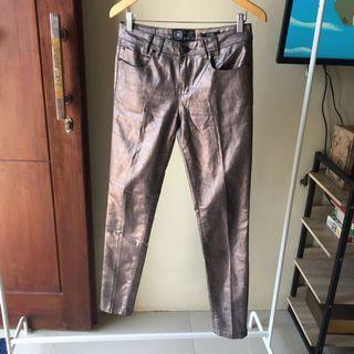 Bronze Skinny Pants