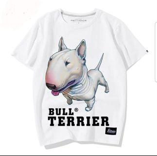 超醒目Bull terrier tee (有男及女size)