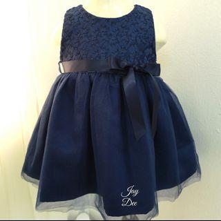 ❤️Baby Lacey Tutu Dress (Navy Blue)❤️