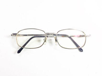 🚚 '80s U.N. Polo team Vintage 復古細框眼鏡 銀色金屬 古著 老眼鏡 早期鏡框 50-17 八零年代, American brand.
