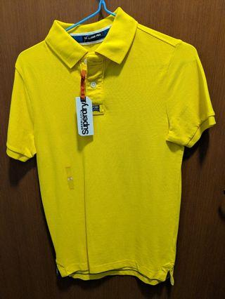 Authentic Brand New Superdry Yellow Classic Polo T-Shirt