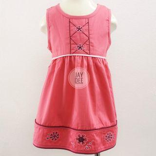 ❤️Baby Cotton Dress (Peachy Coral)❤️