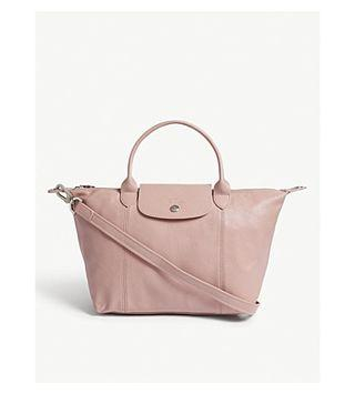 Authentic Longchamp cuir leather blush pink