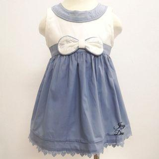 ❤️Baby Cotton Dress (Dusty Greyish Blue)❤️