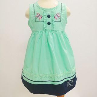 ❤️Baby Cotton Dress (Navy Mint Green)❤️