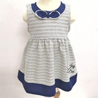 ❤️Baby Cotton Dress (Ribbon Stripe Blue)❤️
