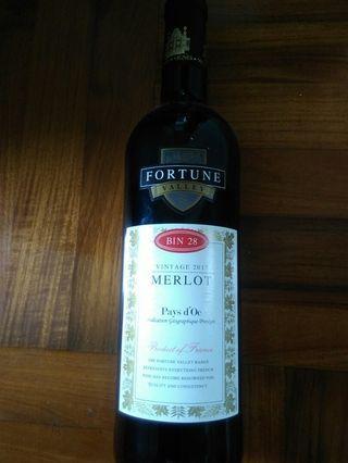 Fortune Valley Vintage 2017 Merlot 12.5% 750mL