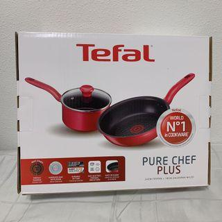 🚚 Tefal Pure Chef Plus Frypan and Saucepan