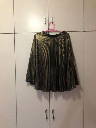 Topshop bronze midi skirt size US2 small