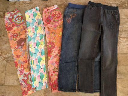 5 x Kingkow Girls trousers