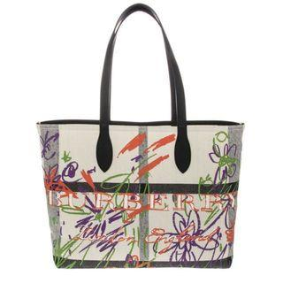 BN Burberry Large Reversible Doodle Tote Bag