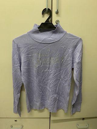 Turtleneck Purple Long Sleeve