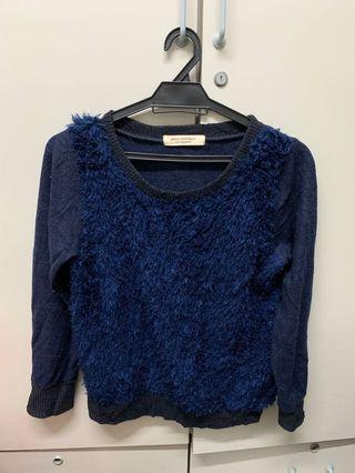 Blue Fur Long Sleeve