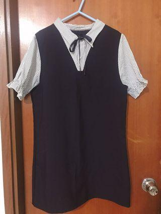 Dark blue dress 藍色連身裙