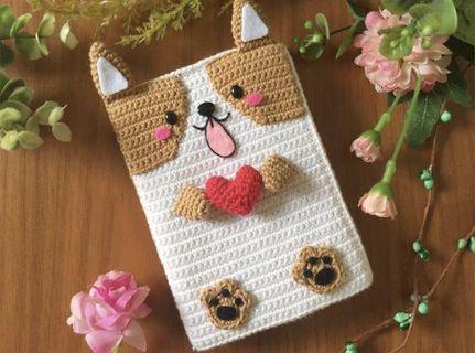 🚚 Corgi Handmade Crochet Passport Case/ Holder/ Cover