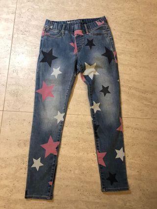 Gap Girls Jeans with Stars Print Size 10-11 (137-145 cm)
