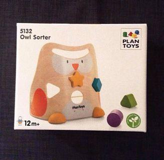 BN Owl Wooden Shape Sorter Toy Plan Toy