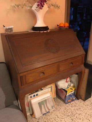 🚚 Antique wood secretary writing desk