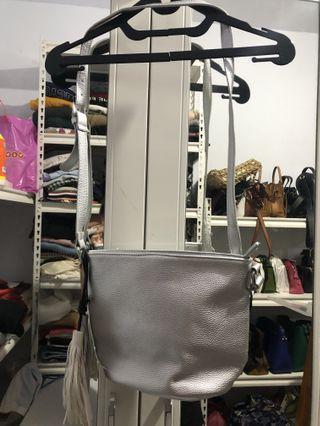 Stradivarius silver bag