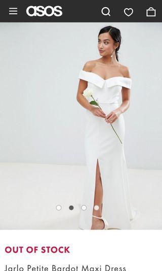 Jarlo Petite Maxi pre-wedding white dress