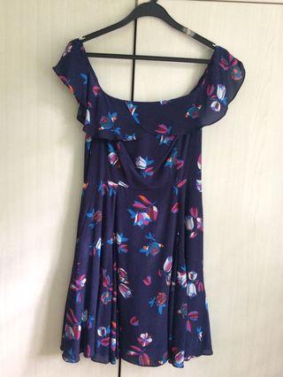Aijek Floral Off-Shoulder Dress