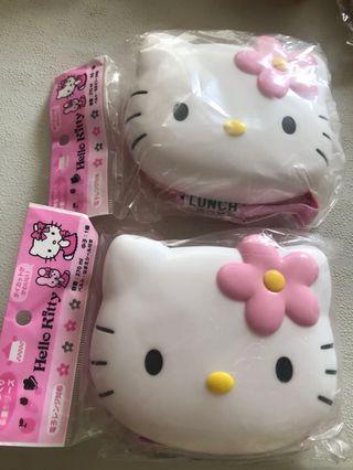 原裝進口正品Hello kitty 頭型食物盒$50